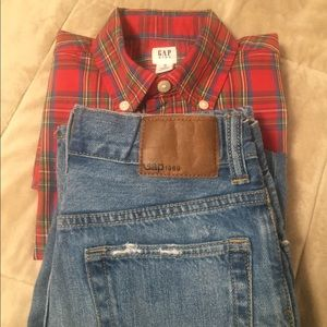 Gap kids shirt and jeans bundle in size 8 (m)